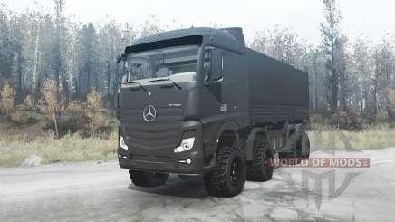 Mercedes-Benz Actros (MP4) 8x8 v3.0 pour MudRunner