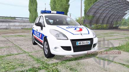 Renault Scenic (JZ) 2009 Police National für Farming Simulator 2017
