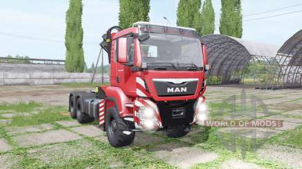 MAN TGS 26.480 crane v1.5 für Farming Simulator 2017