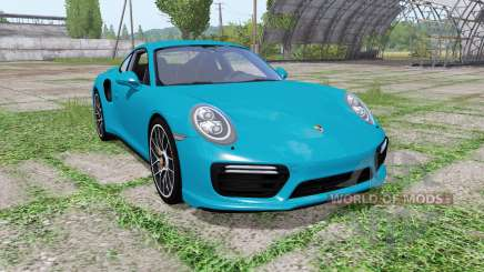 Porsche 911 Turbo S coupe (991) 2016 pour Farming Simulator 2017