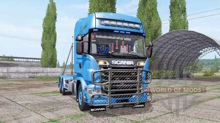 Scania R730 V8 Topline hooklift v1.0.4.5 pour Farming Simulator 2017
