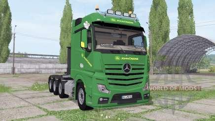 Mercedes-Benz Actros SLT (MP4) John Deere für Farming Simulator 2017