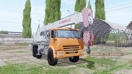KAMAZ 65222 Kran Chelyabinets für Farming Simulator 2017