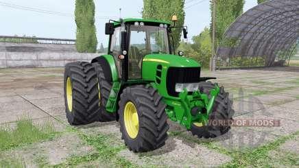 John Deere 7530 Premium dual rear für Farming Simulator 2017