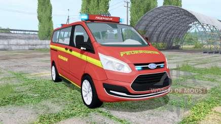 Ford Transit Custom Kombi Feuerwehr v0.9 pour Farming Simulator 2017
