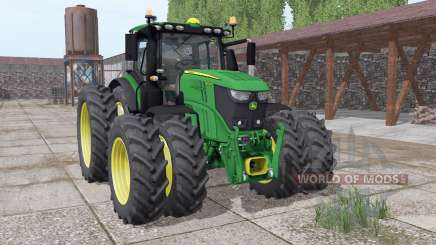 John Deere 6250R twin narrow wheels pour Farming Simulator 2017