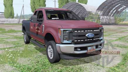 Ford F-250 Super Duty XL FX4 Super Cab 2016 pour Farming Simulator 2017