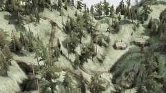 Courbe route de montagne pour MudRunner