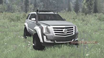 Cadillac Escalade (GMTK2XL) 2015 off-road pour MudRunner