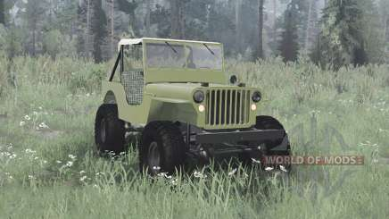 Willys MB off-road green pour MudRunner