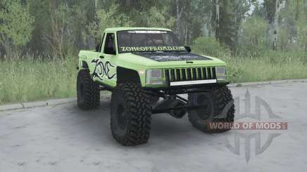 Jeep Comanche (MJ) 1984 lifted pour MudRunner